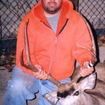 Jason Jaramillo harvested this unusual buck during the 2002 rifle season. Way to go primo!!
