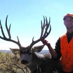 """His 1st Mule Deer, scored 200"""" mark.u"""