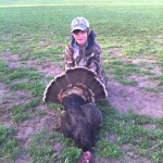 i used my 20 gage with 1 1/4 shot nitro turkey rounds and he was out in one shot to the head